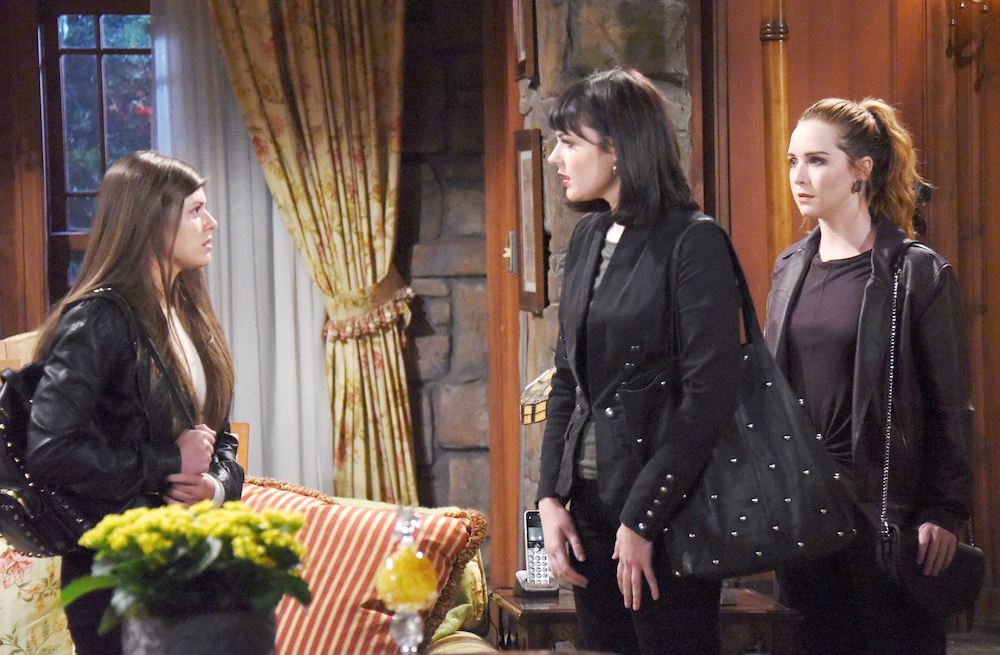 The Young and The Restless Crystal, Tessa, and Mariah