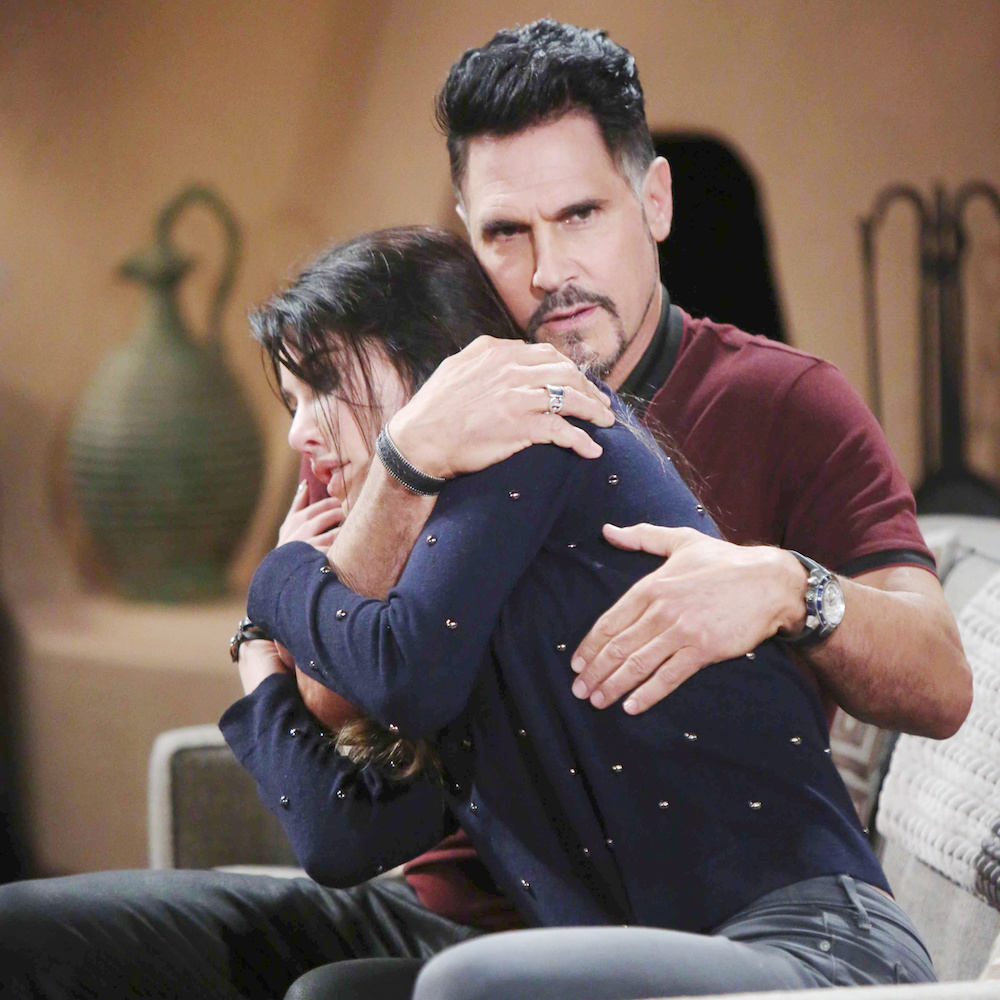 The Bold and The Beautiful Bill hugs Steffy