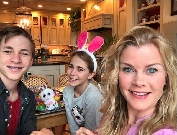 Alison Sweeney kids Easter 2020