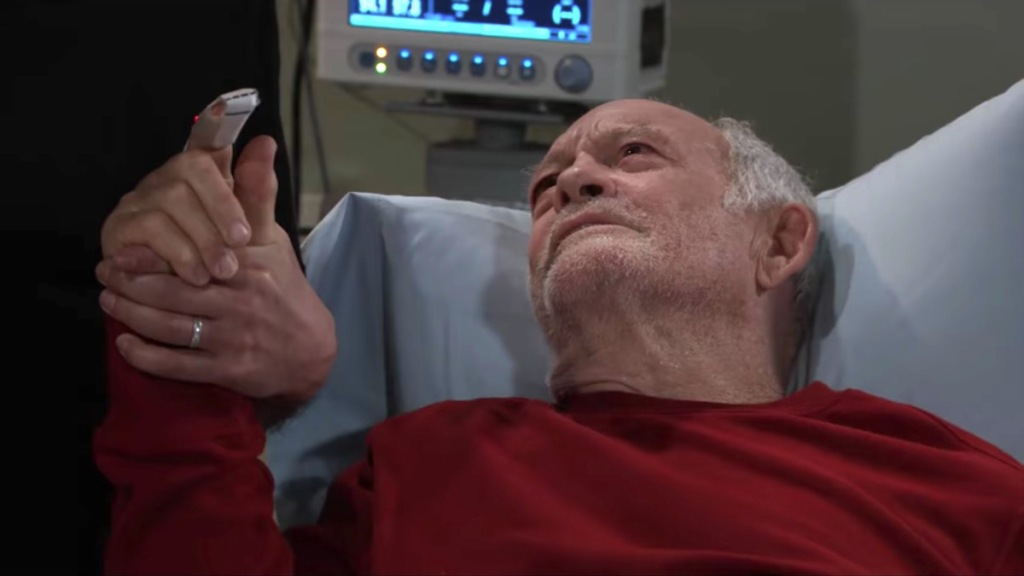 GH Mike in hospital