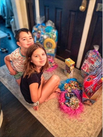 Michelle Stafford kids Easter 2020