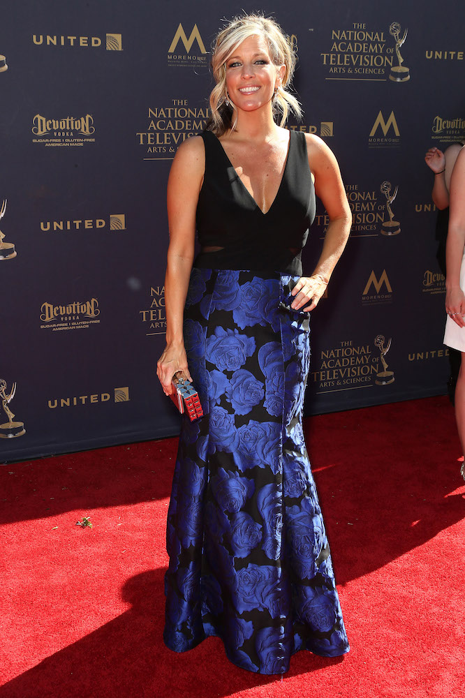 Laura Wright Emmy look