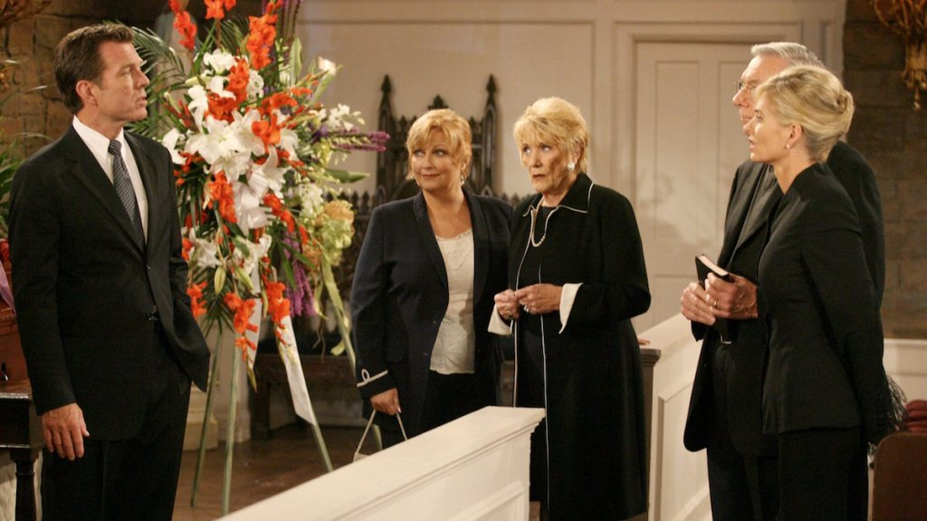 Y&R John's funeral