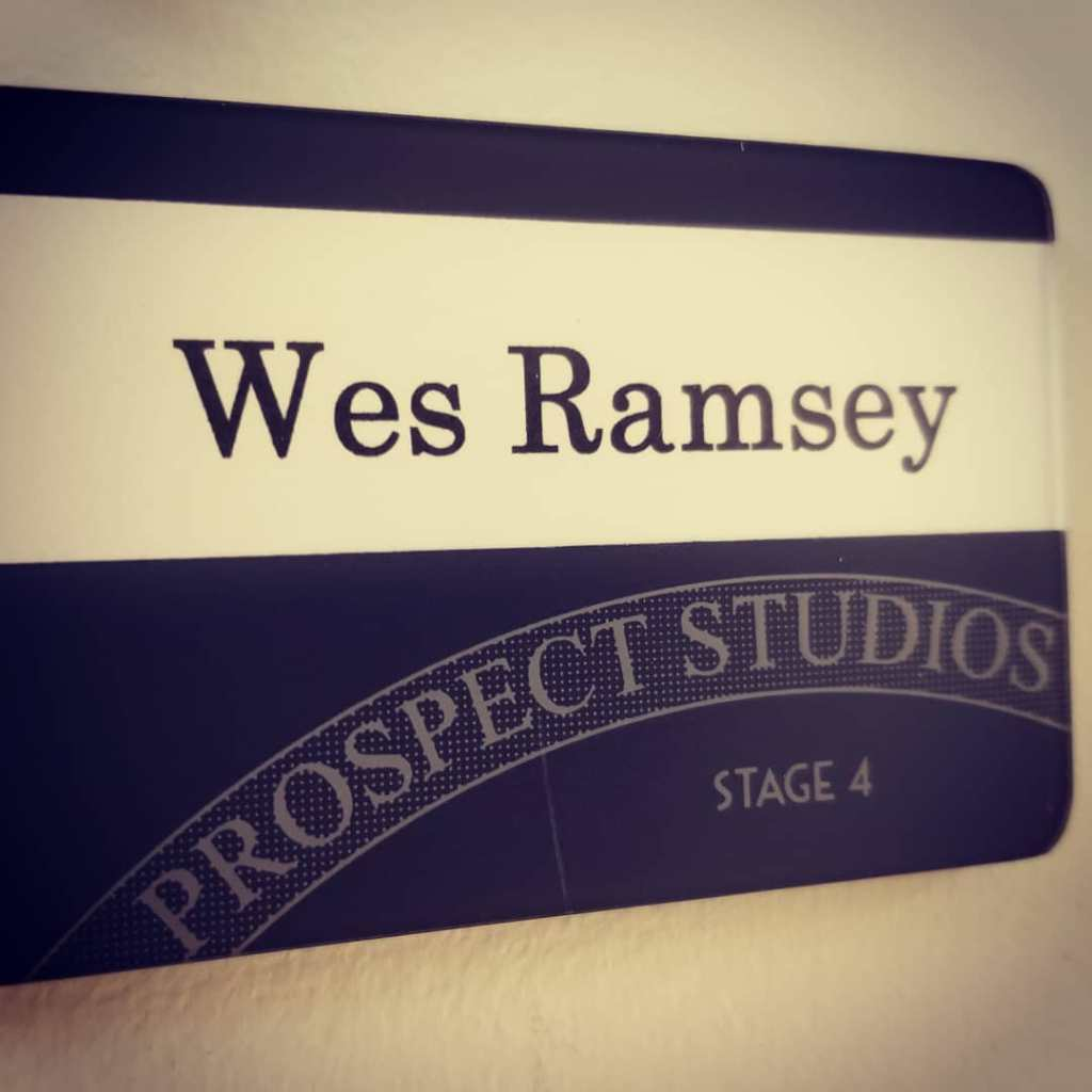 Wes Ramsey dressing room door