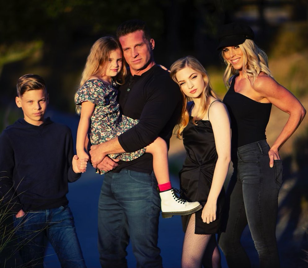 Steve Burton family