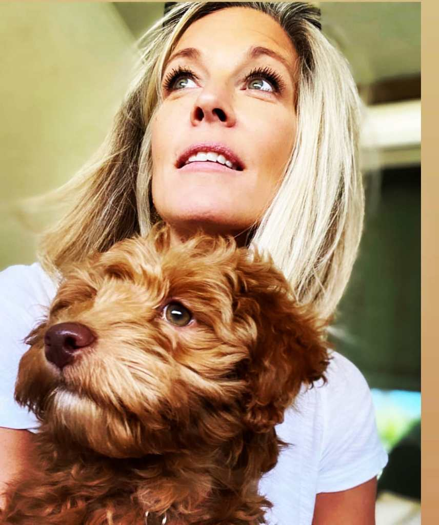 Laura Wright and dog
