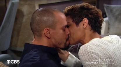 Y&R Devon Elena kiss