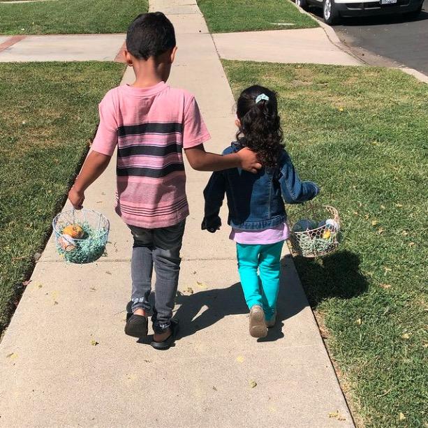 Mishael Morgan kids Easter 2021
