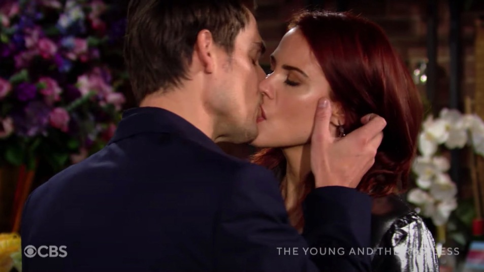 Y&R Adam Sally kiss